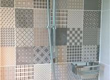 Tiled Wall, Thermostatic Bar Shower Valve and Riser Rail