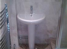 Basin & Pedestal with Chrome Mono Bloc Tap