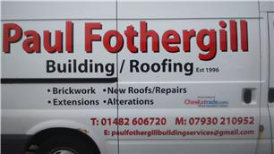 Paul Fothergill Construction/Roofing Services