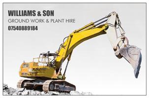 Williams & Son Groundwork and Plant Hire