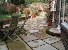 Raj Green Sandstone Patio, Wimbledon Hill, London.