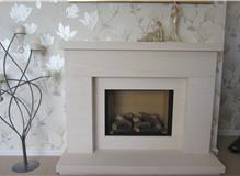 Limestone Fire Surround and Gas Fire
